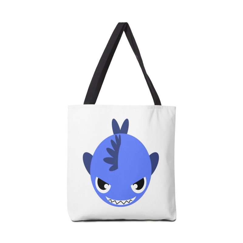 Blue piranha Accessories Bag by Kiemura Merchandise