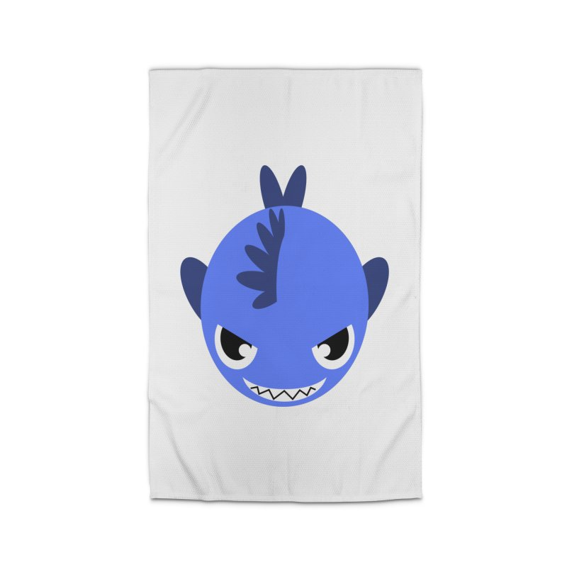 Blue piranha Home Rug by Kiemura Merchandise