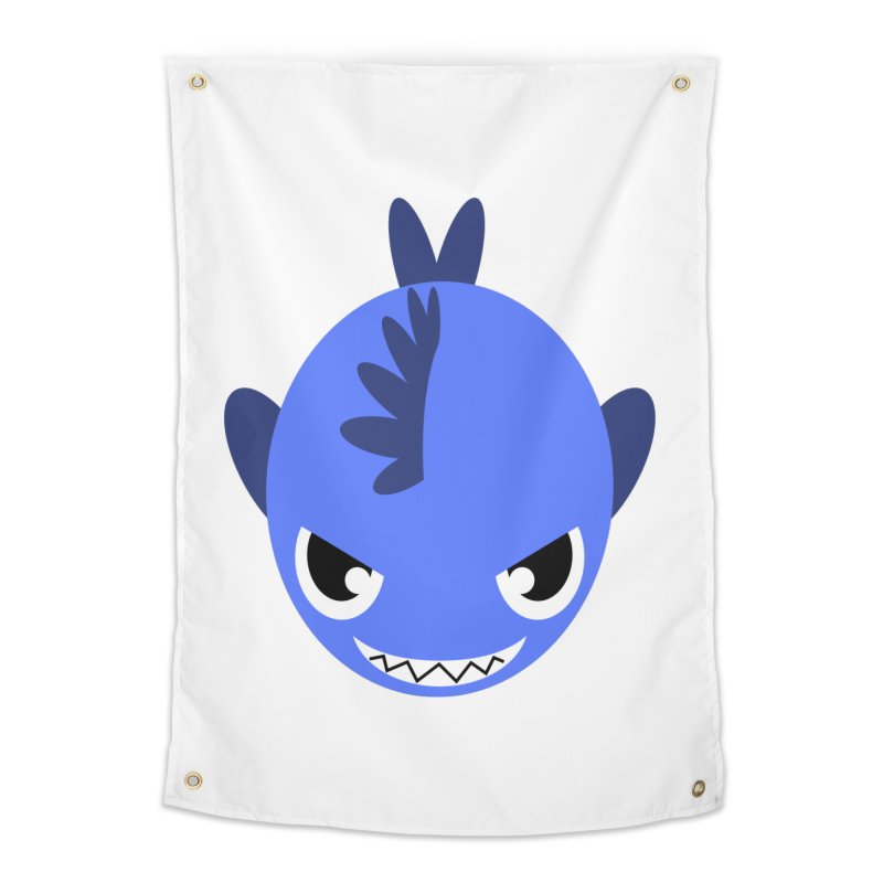 Blue piranha Home Tapestry by Kiemura Merchandise