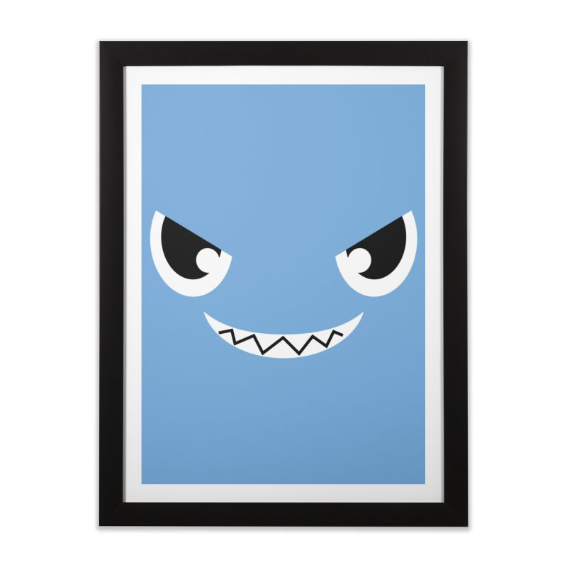 Piranha Face Home Framed Fine Art Print by Kiemura Merchandise