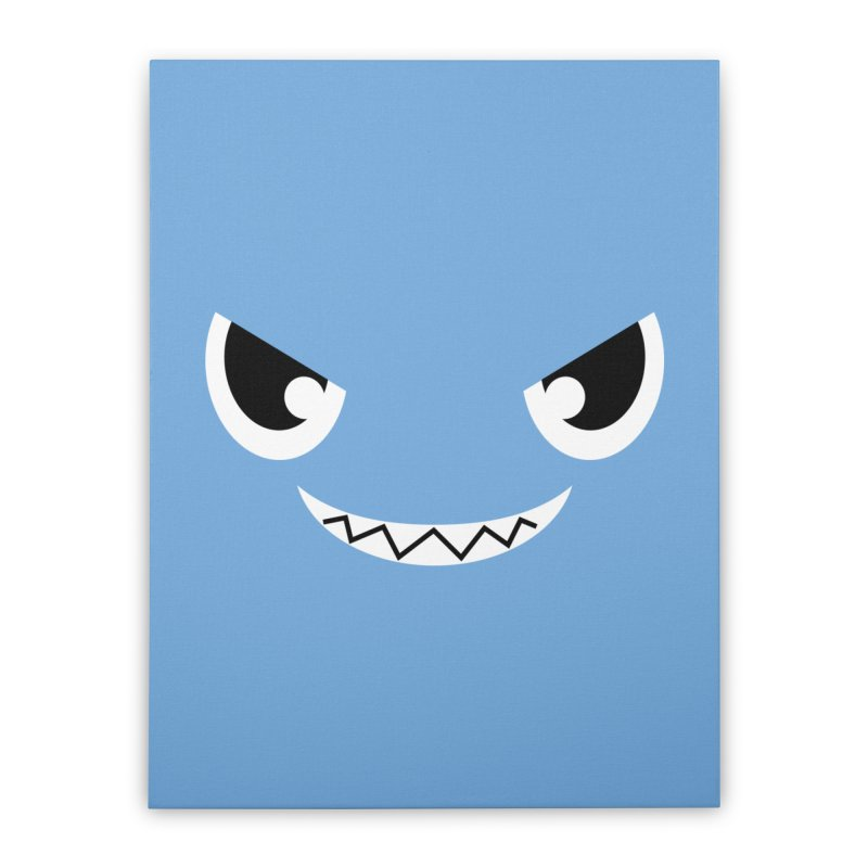Piranha Face Home Stretched Canvas by Kiemura Merchandise