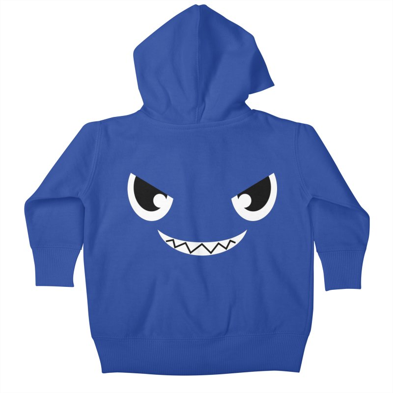 Piranha Face Kids Baby Zip-Up Hoody by Kiemura Merchandise