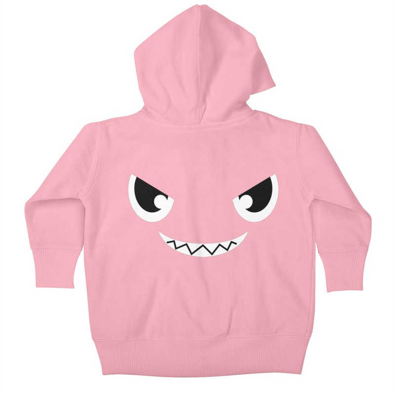 Piranha Face Kids Baby Zip-Up Hoody by Kiemura Merchandise