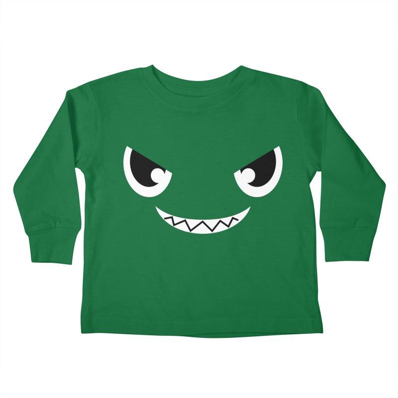 Piranha Face Kids Toddler Longsleeve T-Shirt by Kiemura Merchandise