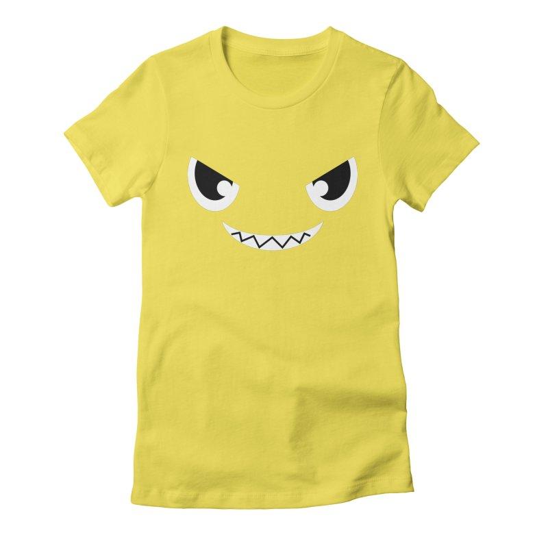Piranha Face Women's Fitted T-Shirt by Kiemura Merchandise