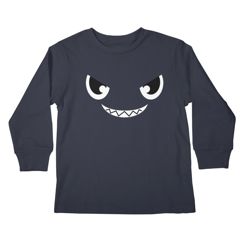 Piranha Face Kids Longsleeve T-Shirt by Kiemura Merchandise