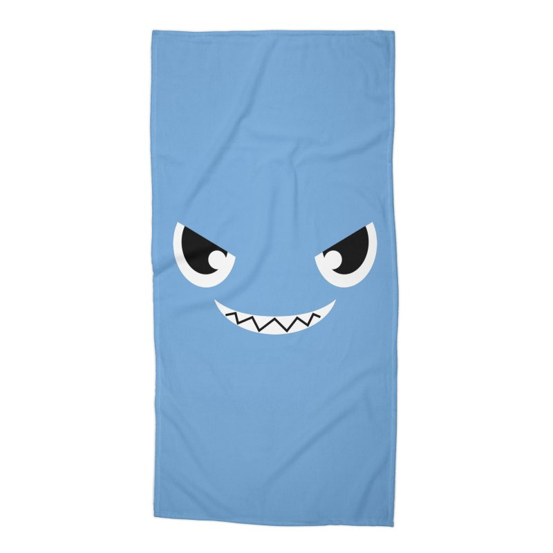 Piranha Face Accessories Beach Towel by Kiemura Merchandise