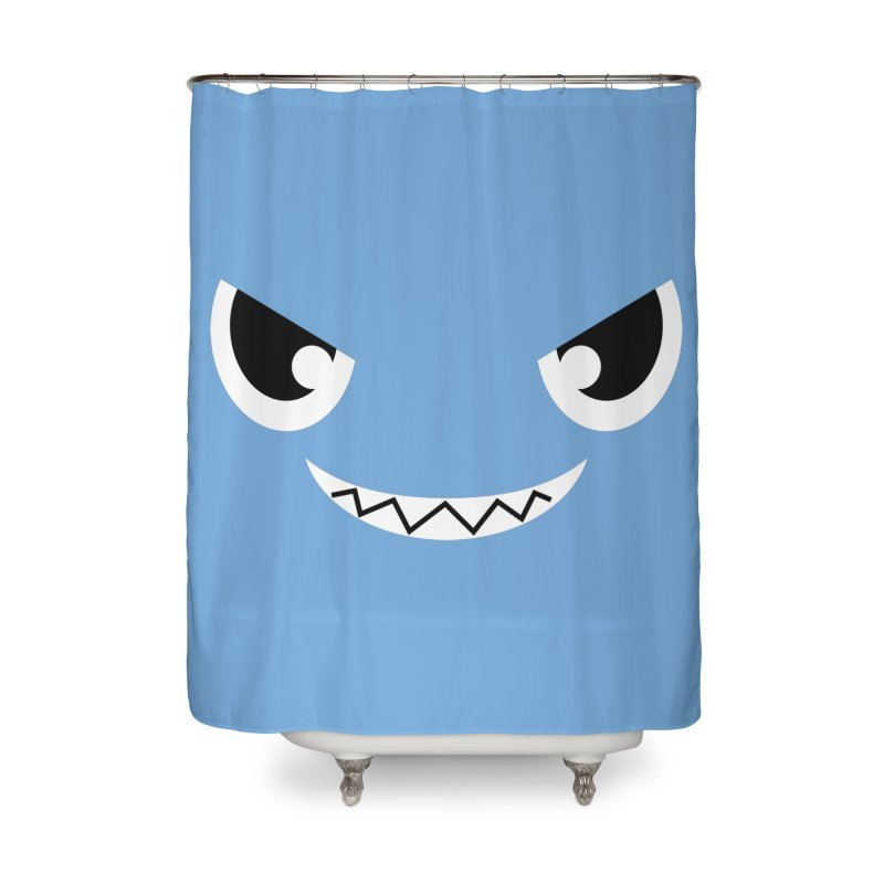 Piranha Face Home Shower Curtain by Kiemura Merchandise