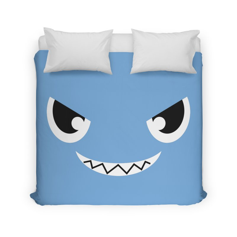 Piranha Face Home Duvet by Kiemura Merchandise