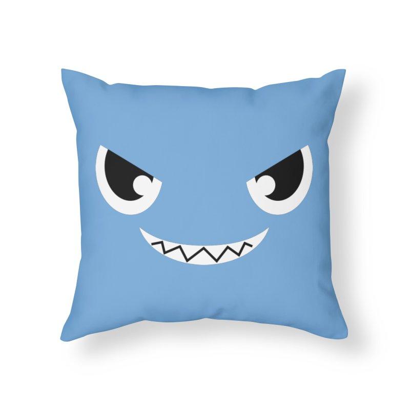 Piranha Face Home Throw Pillow by Kiemura Merchandise