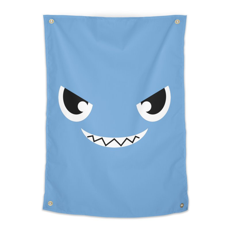 Piranha Face Home Tapestry by Kiemura Merchandise