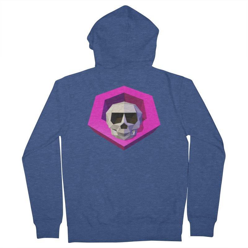 Tiltagon low-poly skull Men's Zip-Up Hoody by Kiemura Merchandise