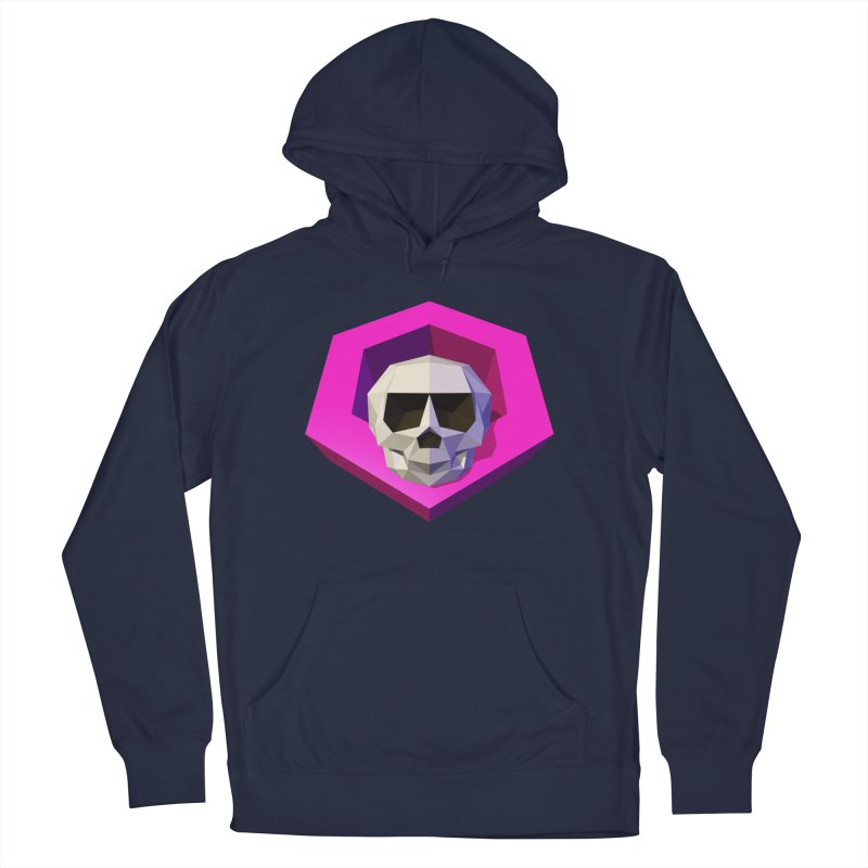 Tiltagon low-poly skull Women's French Terry Pullover Hoody by Kiemura Merchandise