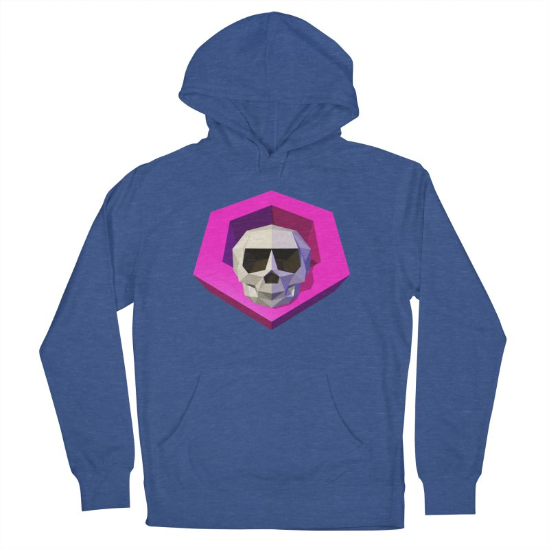 Tiltagon low-poly skull Men's French Terry Pullover Hoody by Kiemura Merchandise