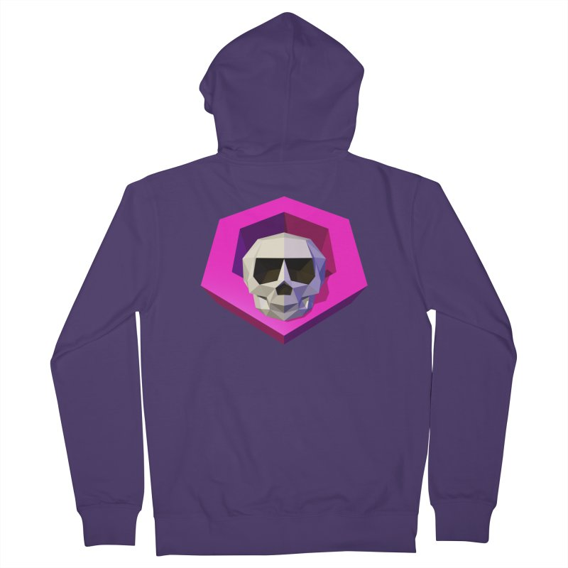 Tiltagon low-poly skull Women's French Terry Zip-Up Hoody by Kiemura Merchandise