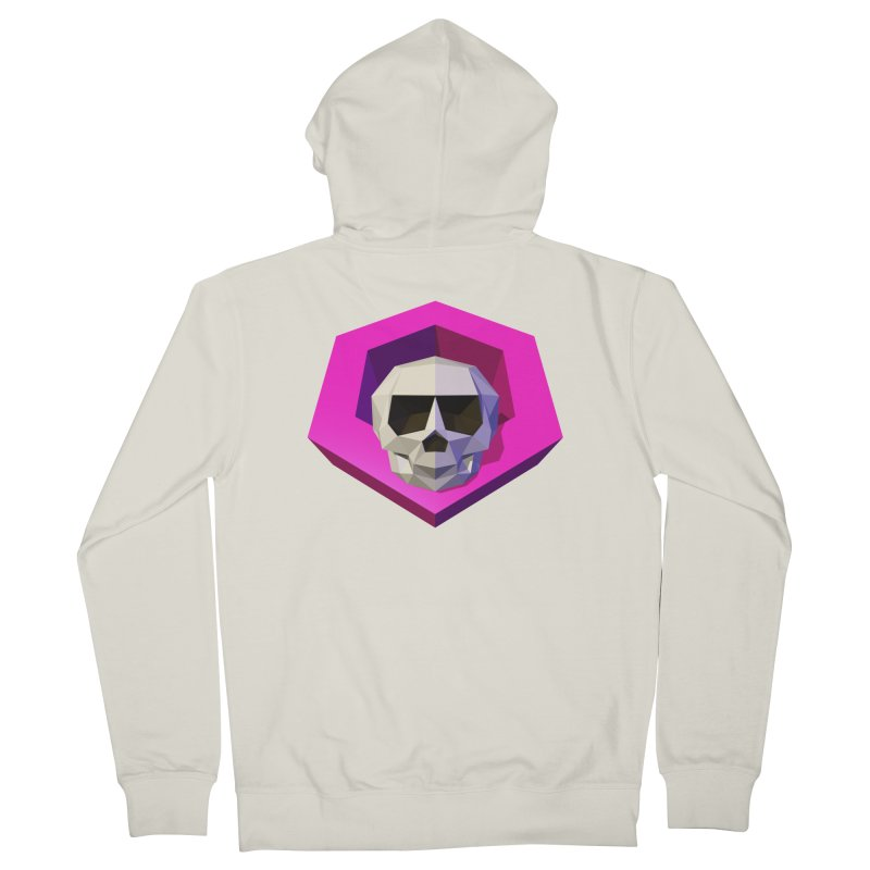 Tiltagon low-poly skull Women's Zip-Up Hoody by Kiemura Merchandise
