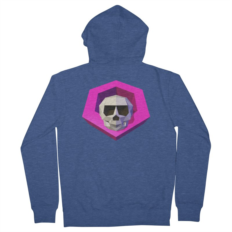 Tiltagon low-poly skull Men's Zip-Up Hoody by Kiemura Merchandise