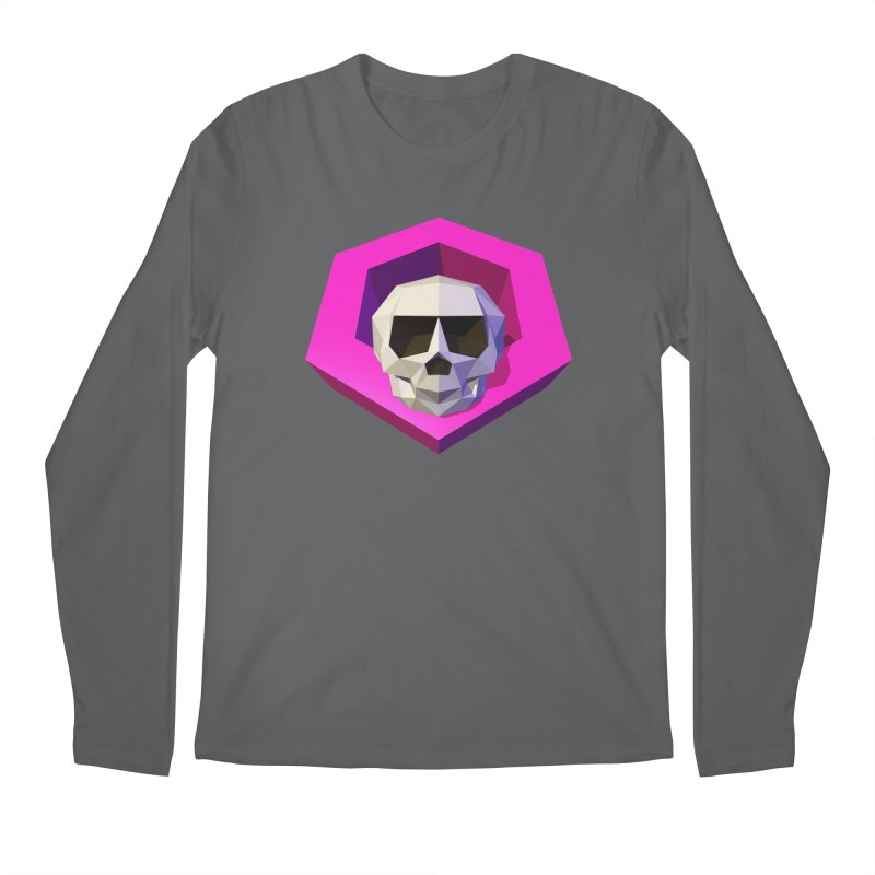 Tiltagon low-poly skull Men's Longsleeve T-Shirt by Kiemura Merchandise