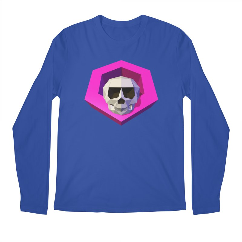 Tiltagon low-poly skull Men's Longsleeve T-Shirt by Kiemura Merchandise