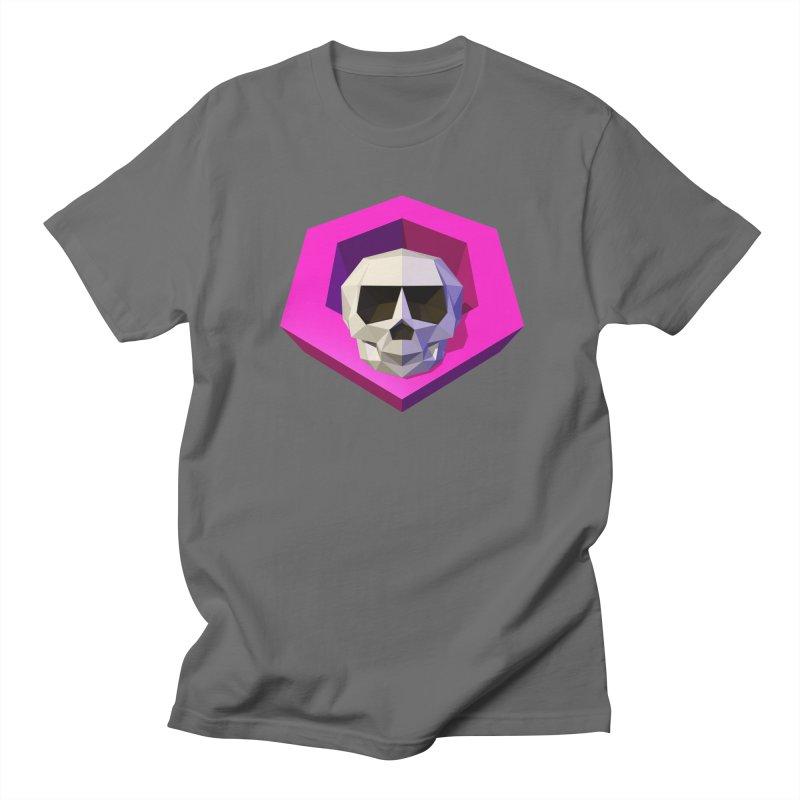 Tiltagon low-poly skull Men's T-Shirt by Kiemura Merchandise
