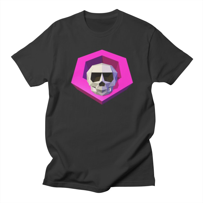 Tiltagon low-poly skull Men's T-Shirt by Kiemura Merchandise