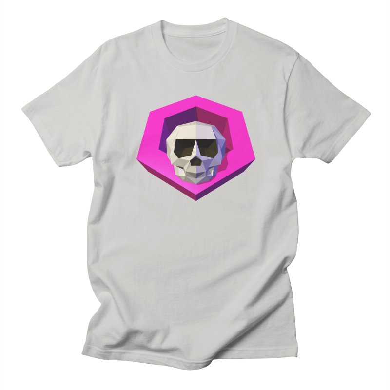 Tiltagon low-poly skull Men's Regular T-Shirt by Kiemura Merchandise