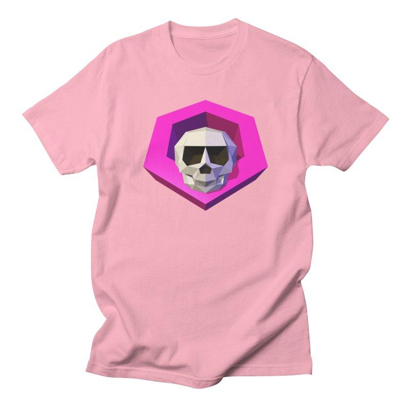 Tiltagon low-poly skull Men's Regular T-Shirt by Kiemura Merchandise