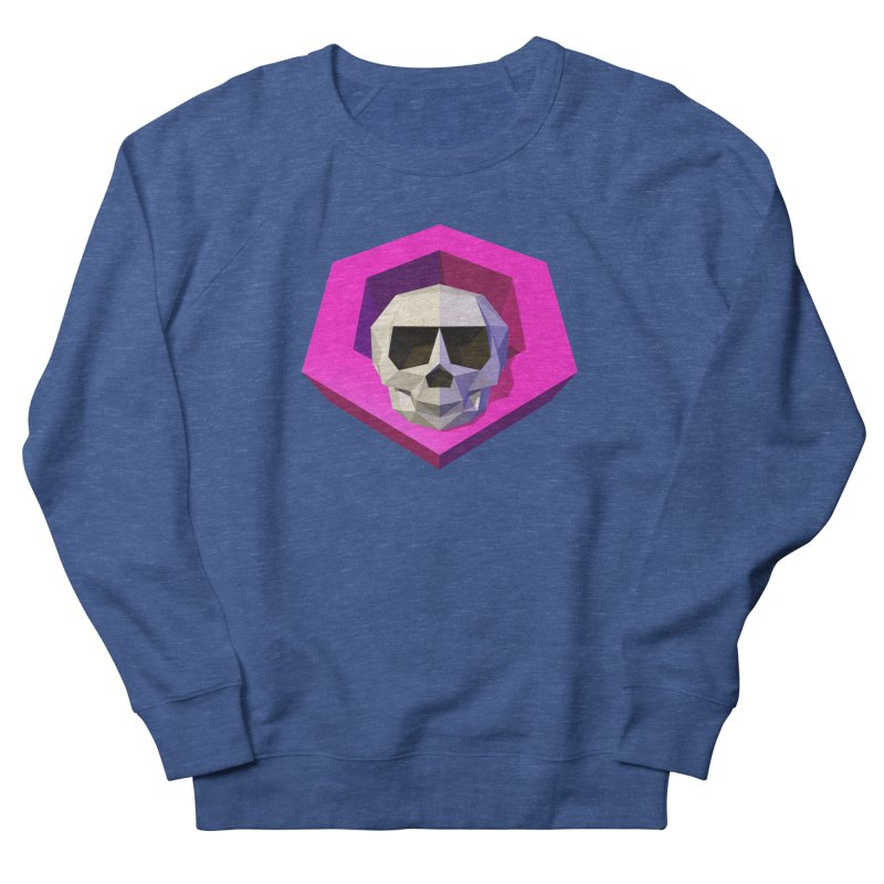 Tiltagon low-poly skull Women's French Terry Sweatshirt by Kiemura Merchandise