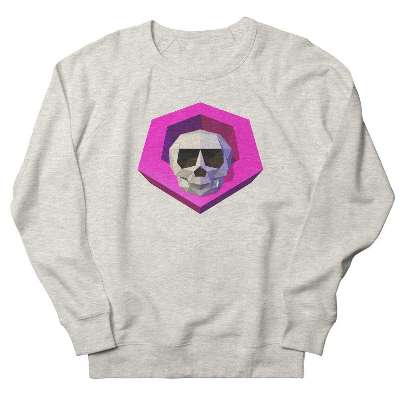 Tiltagon low-poly skull Women's French Terry Sweatshirt by Kiemura Merchandise