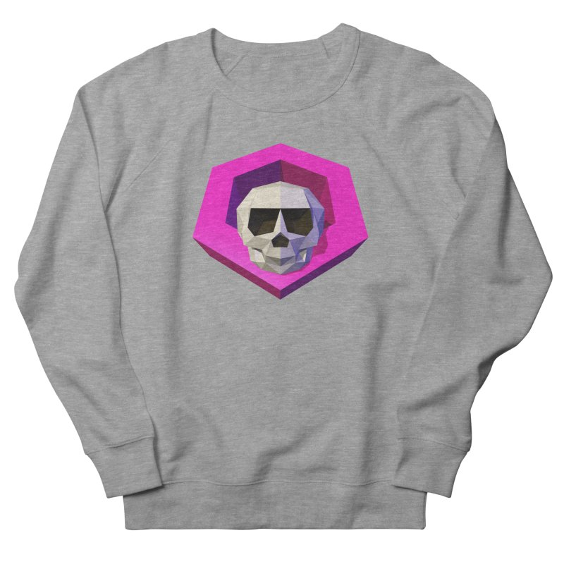 Tiltagon low-poly skull Men's French Terry Sweatshirt by Kiemura Merchandise