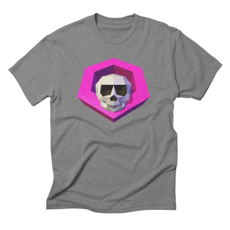 Tiltagon low-poly skull Men's Triblend T-Shirt by Kiemura Merchandise