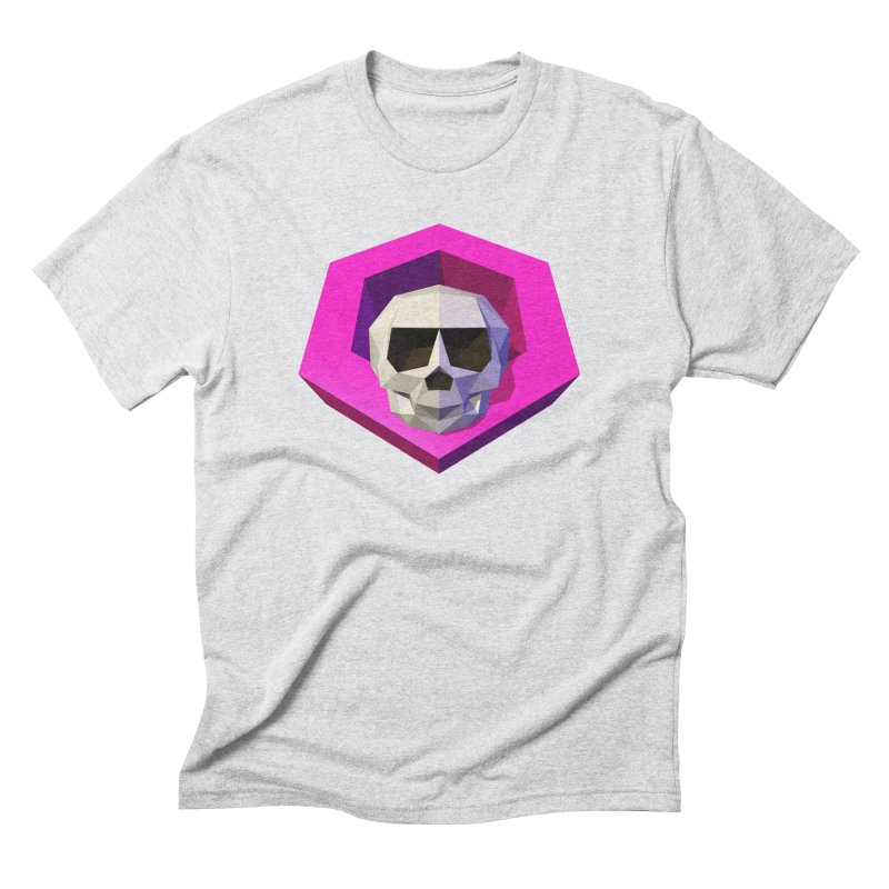Tiltagon low-poly skull Men's Triblend T-Shirt by Kiemura Merchandise