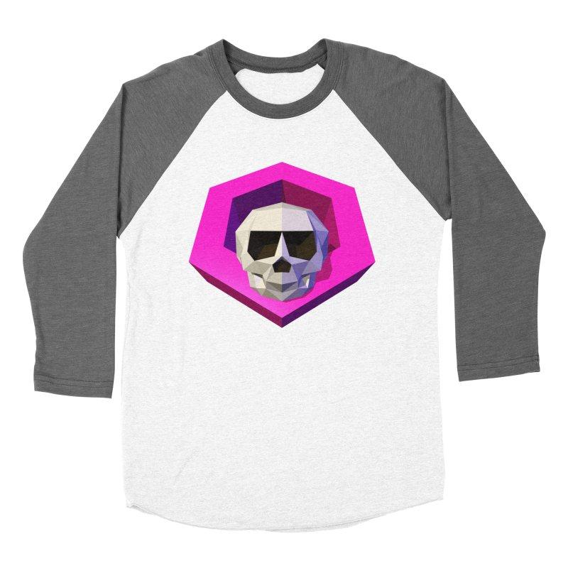 Tiltagon low-poly skull Women's Baseball Triblend Longsleeve T-Shirt by Kiemura Merchandise