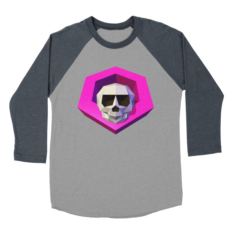 Tiltagon low-poly skull Women's Baseball Triblend T-Shirt by Kiemura Merchandise