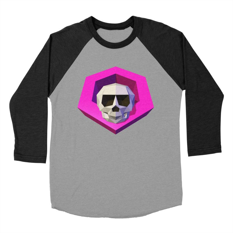 Tiltagon low-poly skull Men's Baseball Triblend T-Shirt by Kiemura Merchandise