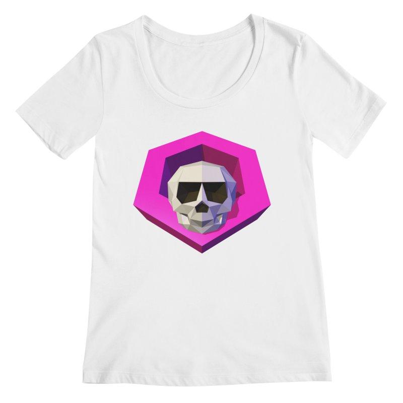 Tiltagon low-poly skull Women's Regular Scoop Neck by Kiemura Merchandise