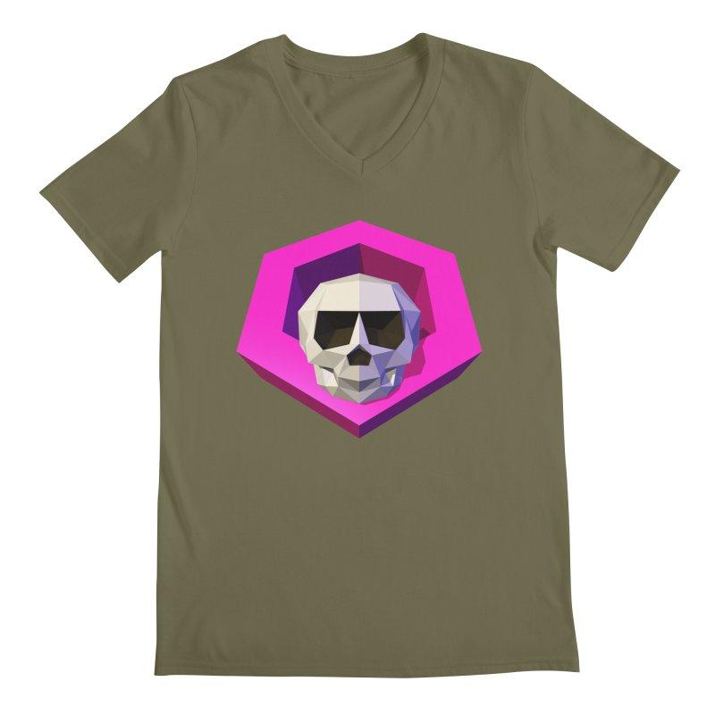 Tiltagon low-poly skull Men's Regular V-Neck by Kiemura Merchandise