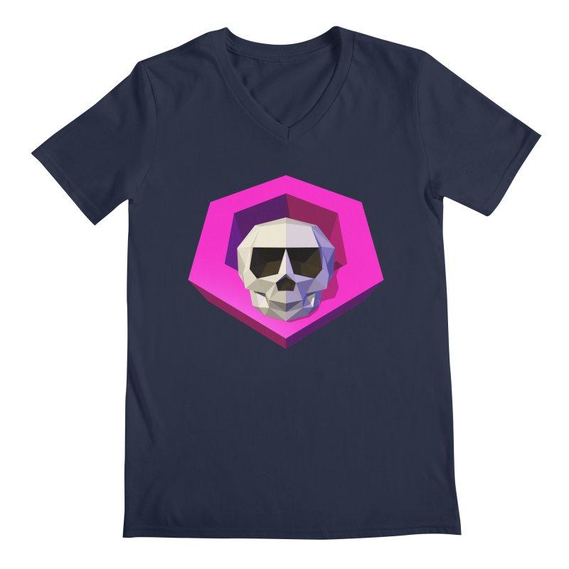 Tiltagon low-poly skull Men's V-Neck by Kiemura Merchandise