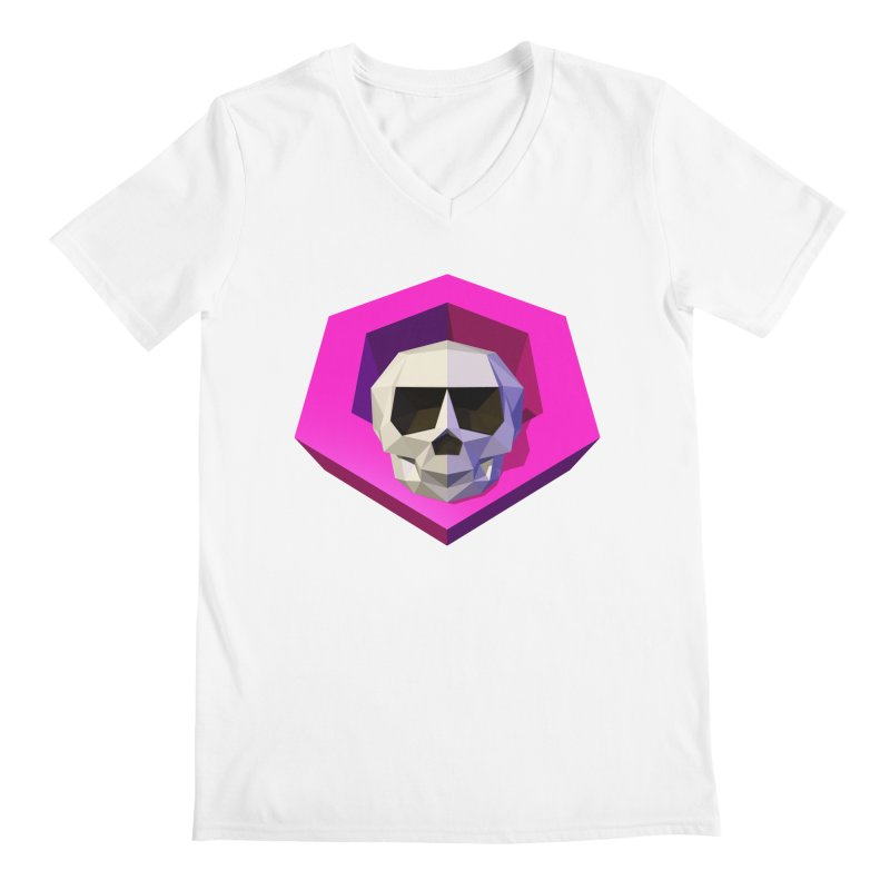 Tiltagon low-poly skull Men's Regular V-Neck by Kiemura Merchandise