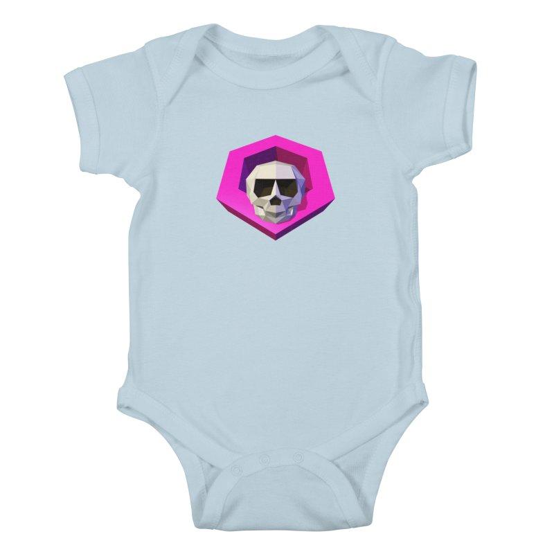 Tiltagon low-poly skull Kids Baby Bodysuit by Kiemura Merchandise
