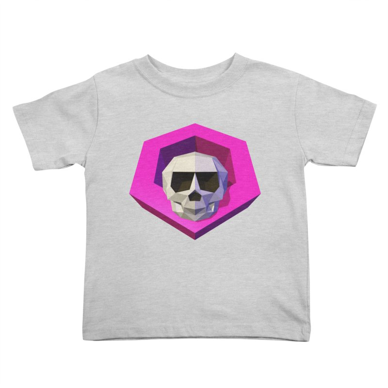 Tiltagon low-poly skull Kids Toddler T-Shirt by Kiemura Merchandise