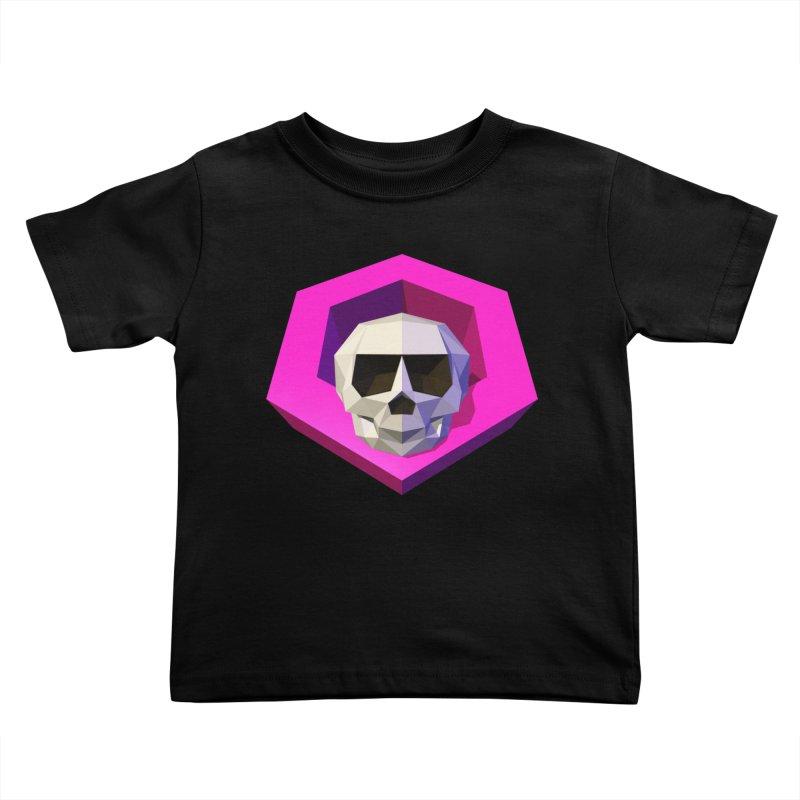 Tiltagon low-poly skull Kids Toddler T-Shirt by Kiemura Merchandise