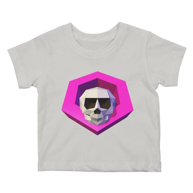 Tiltagon low-poly skull Kids Baby T-Shirt by Kiemura Merchandise