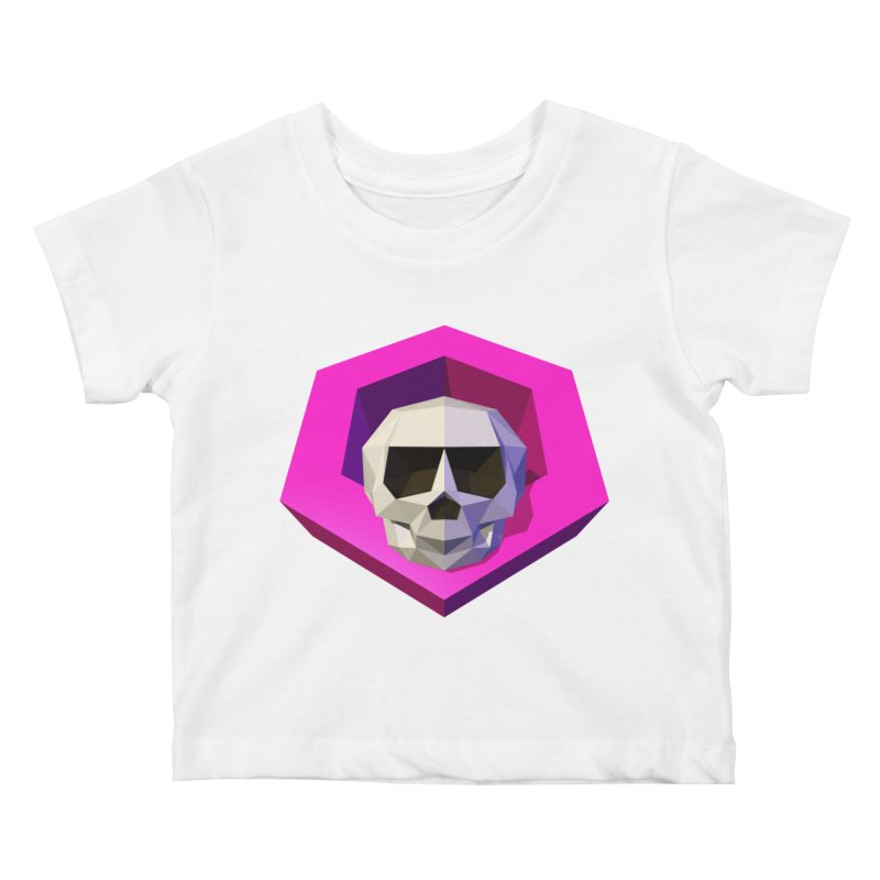 Tiltagon low-poly skull Kids Baby T-Shirt by Kiemura Merchandise