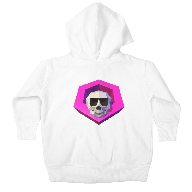 Tiltagon low-poly skull Kids Baby Zip-Up Hoody by Kiemura Merchandise