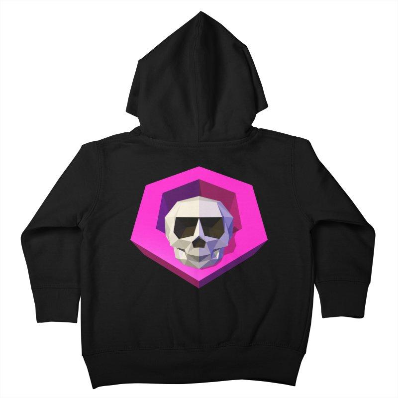 Tiltagon low-poly skull Kids Toddler Zip-Up Hoody by Kiemura Merchandise