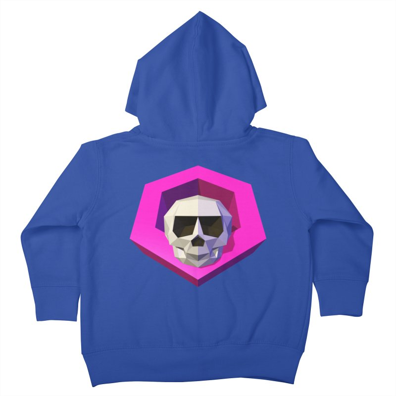 Tiltagon low-poly skull Kids Toddler Zip-Up Hoody by Kiemura Merchandise