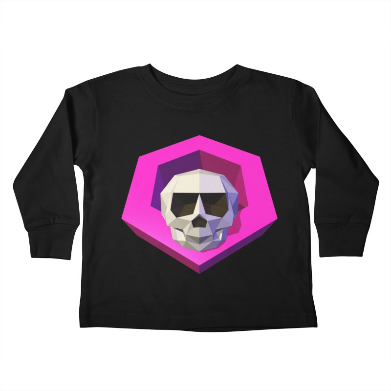 Tiltagon low-poly skull Kids Toddler Longsleeve T-Shirt by Kiemura Merchandise