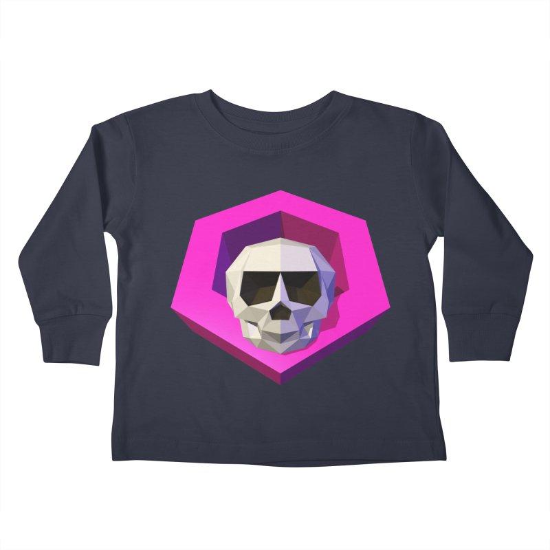 Tiltagon low-poly skull Kids Toddler Longsleeve T-Shirt by Kiemura Merchandise