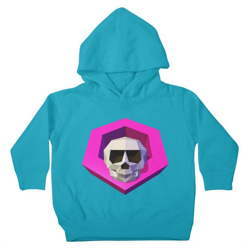 Tiltagon low-poly skull Kids Toddler Pullover Hoody by Kiemura Merchandise